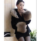 Women Faux Fur Top Lined Imitation fur coat Hooded clothing plus size cony hair