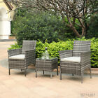 2 Chairs And Table Garden Furniture Set Patio Conservatory Indoor Outdoor