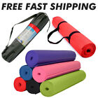 "Foam Mats for Yoga Pilates Exercise + Carry Bag  68"" x 24"" - 1/4"" Thick image"