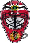 Chicago Blackhawks Front Goalie Mask Vinyl Decal / Sticker 5 Sizes!!! $10.99 USD on eBay