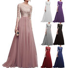 Ladies Formal Dress Womens Bridesmaid Long Maxi Evening Prom Gown Wedding Dress
