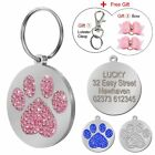 PetArtist® Paw Print Round Stainless Steel Pet ID Tags Dog