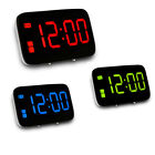 Digital Large LED Alarm Clock Visible Night Screen Voice Control Snooze Button