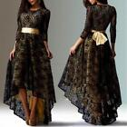 Plus Size Women Lace Floral Prom Ball Gown Formal Party Cocktail Long Dress US