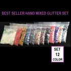 Elegance Nail Art Glitter System*1 TSP* GEL ACRYLIC Set 12 Types Decoration