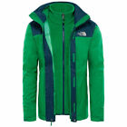 The north face evolve II triclimate jacket primary green kodiak blue 3 in 1 giac