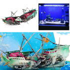 Sale Brand Aquarium Decoration Pirate Ship Boat For Fish Tank Resin Ornament New