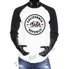 3/4 Sleeve Baseball Raglan Jersey Tee Cali California Republic Men's T-shirt Tee image
