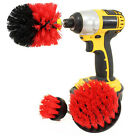 3Pc Grout Power Scrubber Wall Tile Cleaning Brush Drill Tub Cleaning Set Tool EV