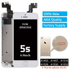 OEM Apple iPhone 5 5C 5S LCD Touch Screen Replacement Digitizer + Button+ Camera