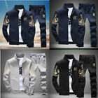 2X/Set Men Casual Tracksuit Sport Suit Jogging Athletic Jacket+Pants Sportswear