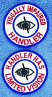 """Visually Impaired Handler Limited Vision Service Dog 3"""" Assistance Danny & LuAnn"""