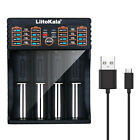 Universal Smart USB Battery Charger for A AA AAA 21700 18650 14500 26650 RCR123A