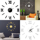 DIY Wall Clock Home Modern Decoration 3D Crystal Mirror Vinyl Art Sticker Decals