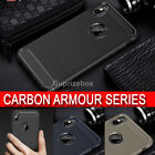 New Case for iPhone XS XS MAX X Rugged Carbon Fibre Soft Cover TPU Silicone Slim