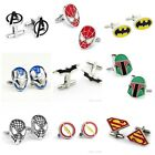 Super Hero Star Wars Batman Flash Silver Plated Cufflinks Wedding Prom Shirt $3.86 USD on eBay