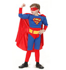 Boys Superhero Costume Role Play Spider-Man Batman Halloween Party Fancy Outfit