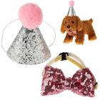 Cap For Dog Pet Cat Dog Bowknot Costume Headwear Caps Hat Birthday Party Costume