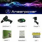 ANEERPOWER® 12V 16V 21V 25V Screwdriver Double Speed Electric Drill Cordless