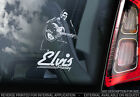 Elvis Presley - Car Window Sticker - The King Rock & Roll Music Sign Decal - V08