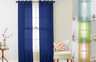 1PC ELEGANCE VOILE SHEER GROMMET PANEL WINDOW DRESSING CURTAIN TREATMENT RUBY