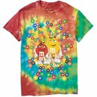 M&M Tie Dye Men's Graphic Tee T-Shirt Food Beverage Candy Chocolate Fashion NWT image