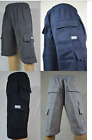 PRO CLUB Cargo Fleece Shorts Men's Heavyweight Joggers Sweat Pants Pockets S-5XL
