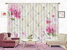 Like Granular Flowers 3D Curtains Blockout Photo Printing Curtains Drape Fabric