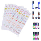 2/5/10 Sheets Paper Sticker Labels for Essential Oil Bottle Cap Color Coded Tool