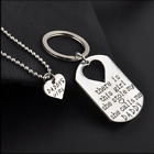 New Family Fashion Charm Keychain and Heart Pendant Necklace Mommy Daddys Girl