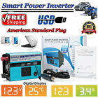 Power Inverter 4000Watt Max DC 12V to 110V AC Converter Adapter Charger Supply