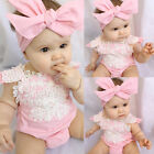 Kyпить US Canis Newborn Baby Girl Lace Floral Romper Jumpsuit Sunsuit Outfits Clothes на еВаy.соm