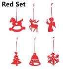 Christmas Tree Pendants Hanging Wooden Xmas Decoration Home Party Decor