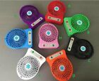 Portable Rechargeable LED Light Fan Air Cooler Mini Desk USB 18650 Battery Fans