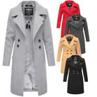 Navahoo Damen Business Mantel Trenchcoat lang woll mantel wintermantel Jacke Neu