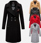 Navahoo Damen Business Mantel Trenchcoat woll winter Jacke übergangs mantel Lang
