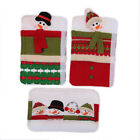 Christmas Microwave Door Handle Covers Kitchen Appliances Gloves Protect Cover