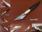 2kind Leathercraft Swiss Stainless Steel Precision Carving Cut Cutter Knife Tool