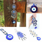 Внешний вид - 6 Style Luck Turkish Blue Hamsa Hand Glass Evil Eye Amulet Wall Hanging Decor