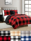 Buffalo Plaid Reversible Down Alternative 4 Piece Comforter Set - 2 Color Styles image