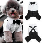Small Pet Dog Clothing Prince Wedding Suit Tuxedo Bow Tie Puppy Clothes S-XXL .