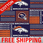 "Denver Broncos NFL Cotton Fabric - 58-60"" Wide - Style# 6422 - Free Shipping!! $15.95 USD on eBay"