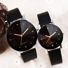 Fashion Men Women Quartz Analog Leather Strap Line Round Wrist Watch Watches New image