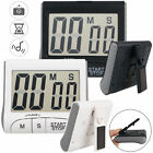 Magnetic Digital Kitchen Timer Stopwatch Large LCD Screen Cooking Alarm Stand
