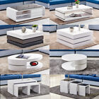 High Gloss Coffee Table Nest Of 3 Modern Design White Home Living Room Furniture