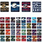 "New NFL Helmet Logo Soft Fleece Throw Blanket 50"" X 60"" All 32 Teams Available"