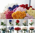 Large Dried Artificial Rose Silk Flowers Flower Head Floral Fake Wedding Decor