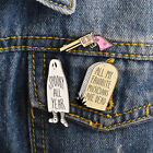 Funny Cartoon Backpack Badge Child Gift Brooch Pins Pink Gun Ghost Tombstone