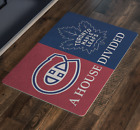 Montreal Canadiens Toronto Maple Leafs NHL Man Cave Decor House Welcome Doormat $28.92 USD on eBay