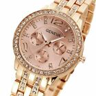 New Women's Fashion Stainless Steel Bracelet Crystal Analog Quartz Wrist Watch image